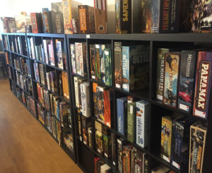 A huge selection of board games...
