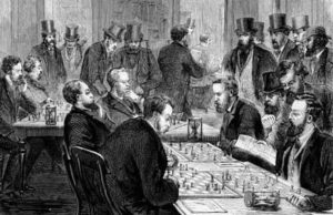 Victorian's Playing Chess
