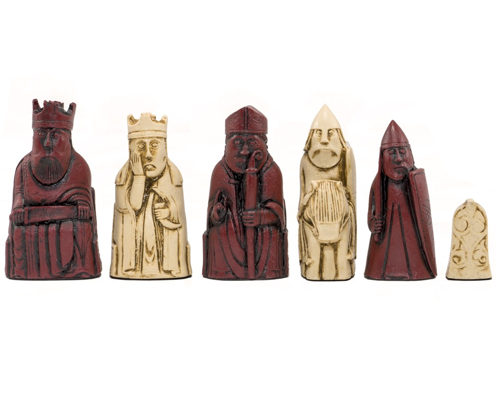 Isle of Lewis Cardinal Chess Men 3.35 inches