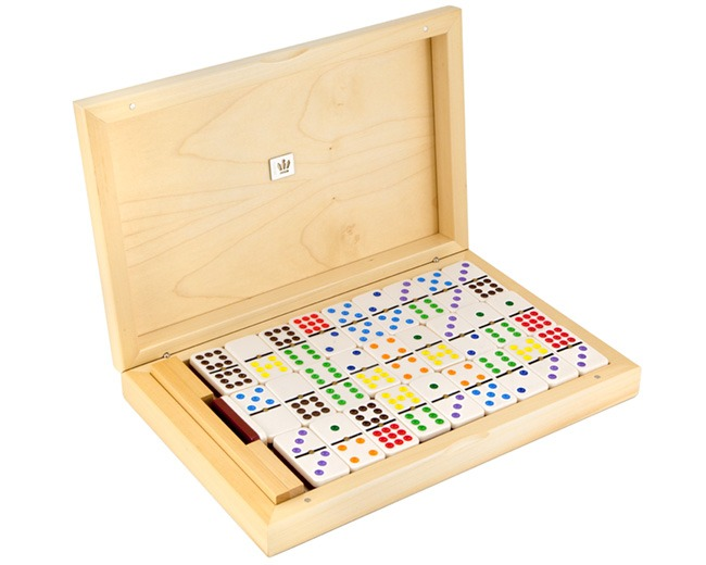 Dal Negro Luxury Dominoes 9's in Poplar Case