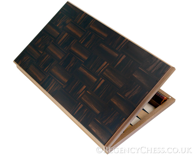 Dal Negro Istanbul Ebony and Walnut Luxury Backgammon