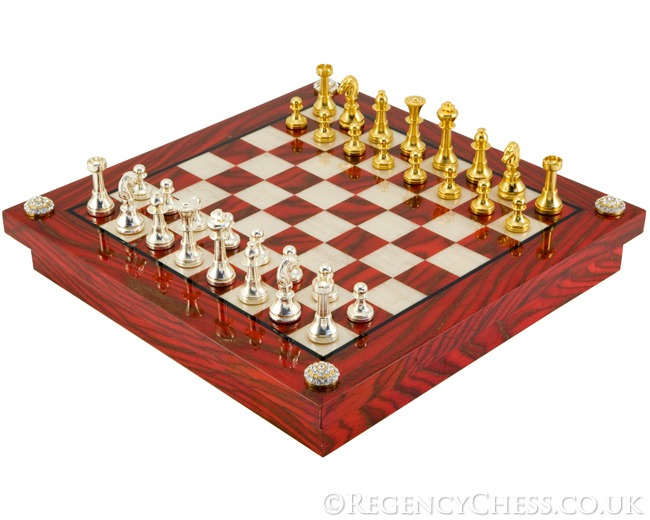 Valencia Luxury Chess Cabinet Set