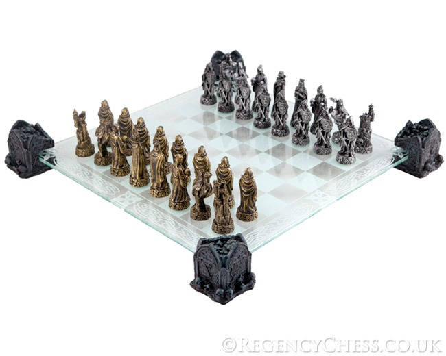 Soul Takers Fantasy Glass Chess Set