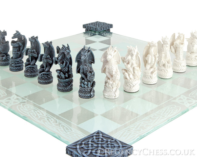 Dragon Chess Set With Glass Board Nem5427