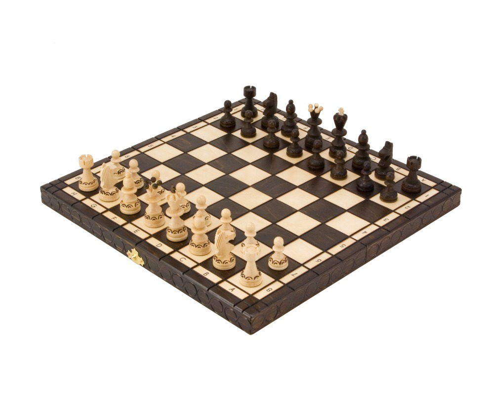 13 Inch Pearl Folding Chess Set