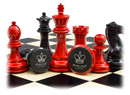 Purling Black and red chess set