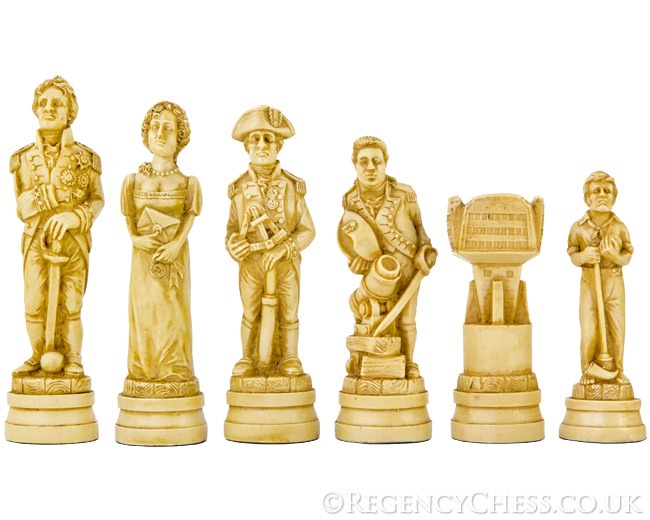 Battle of Trafalgar Themed Chessmen 5.5 Inches Undecorated