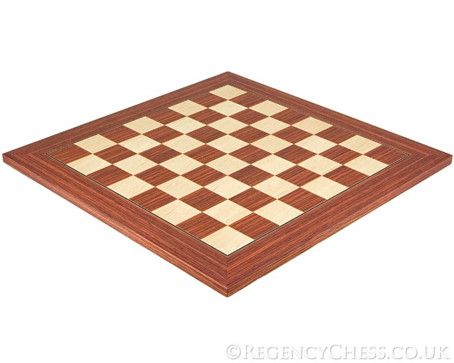 19.7 Inch Light Rosewood and Maple Deluxe Chess Board