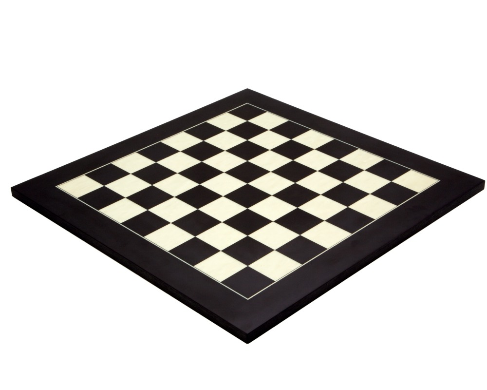 17.75 Inch Black and Maple Deluxe Chess Board