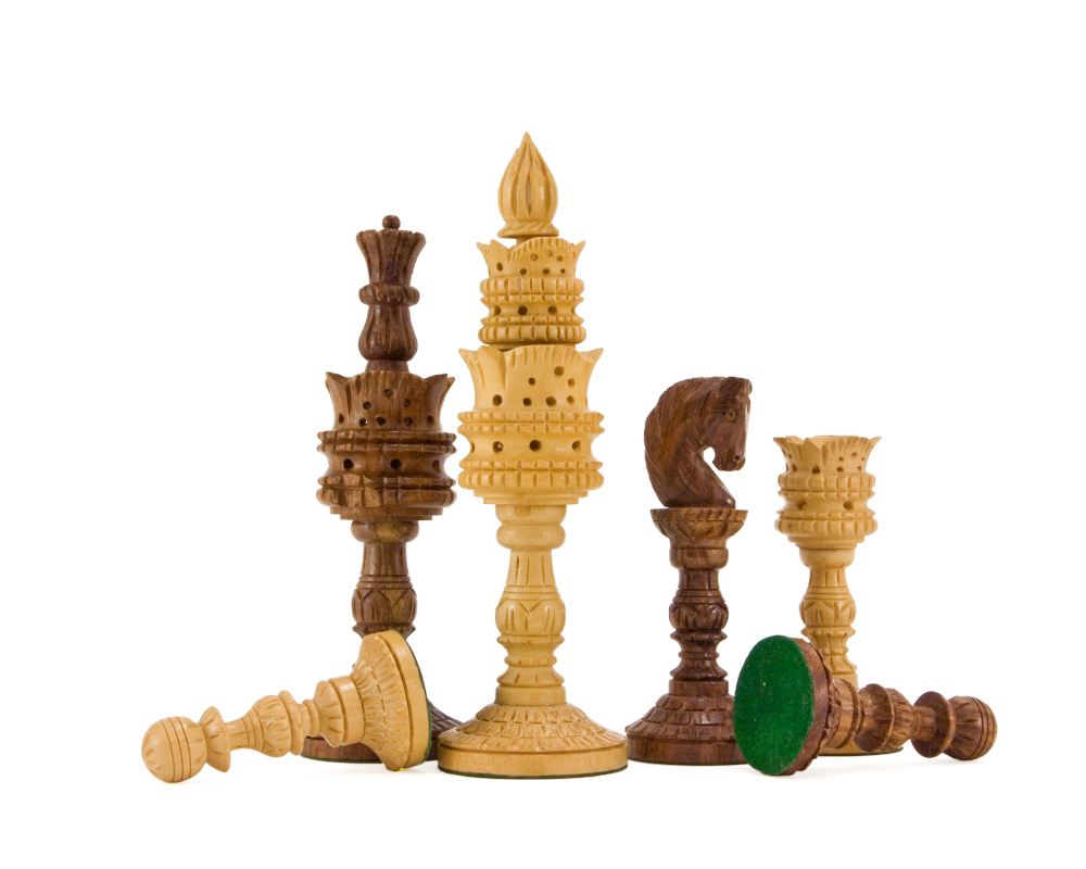 lotus flower chess pieces