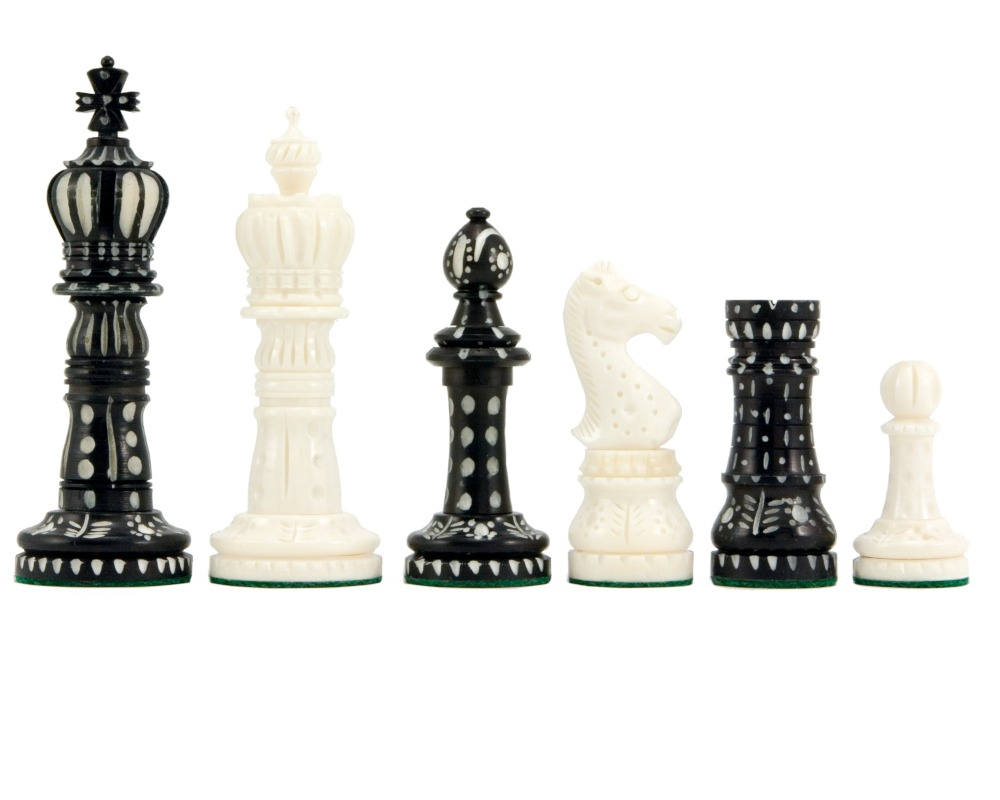 Ornate carved chess pieces the regency chess company england - Ornate chess sets ...