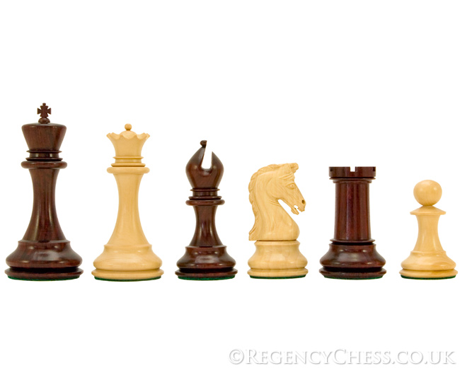 Eminence Series Red Sandalwood Luxury Chess Pieces 4.5 Inches