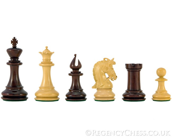 Corinthian Series Luxury Red Sandalwood Chess Pieces 4.25 Inches