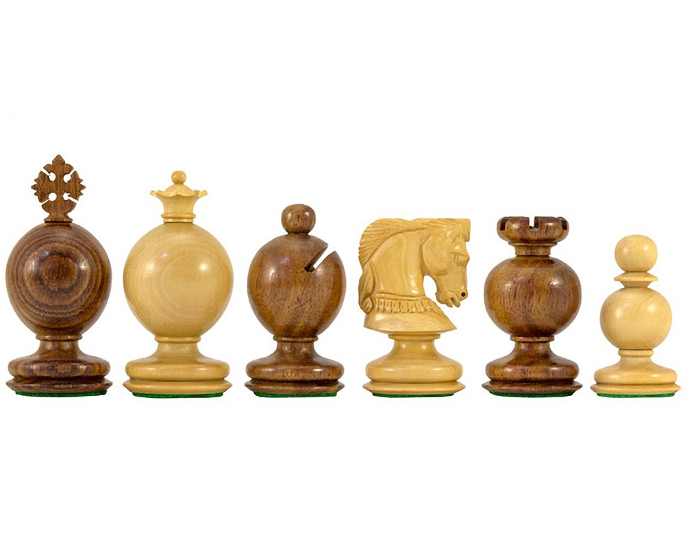 Easter Series Golden Rosewood Carved Chessmen