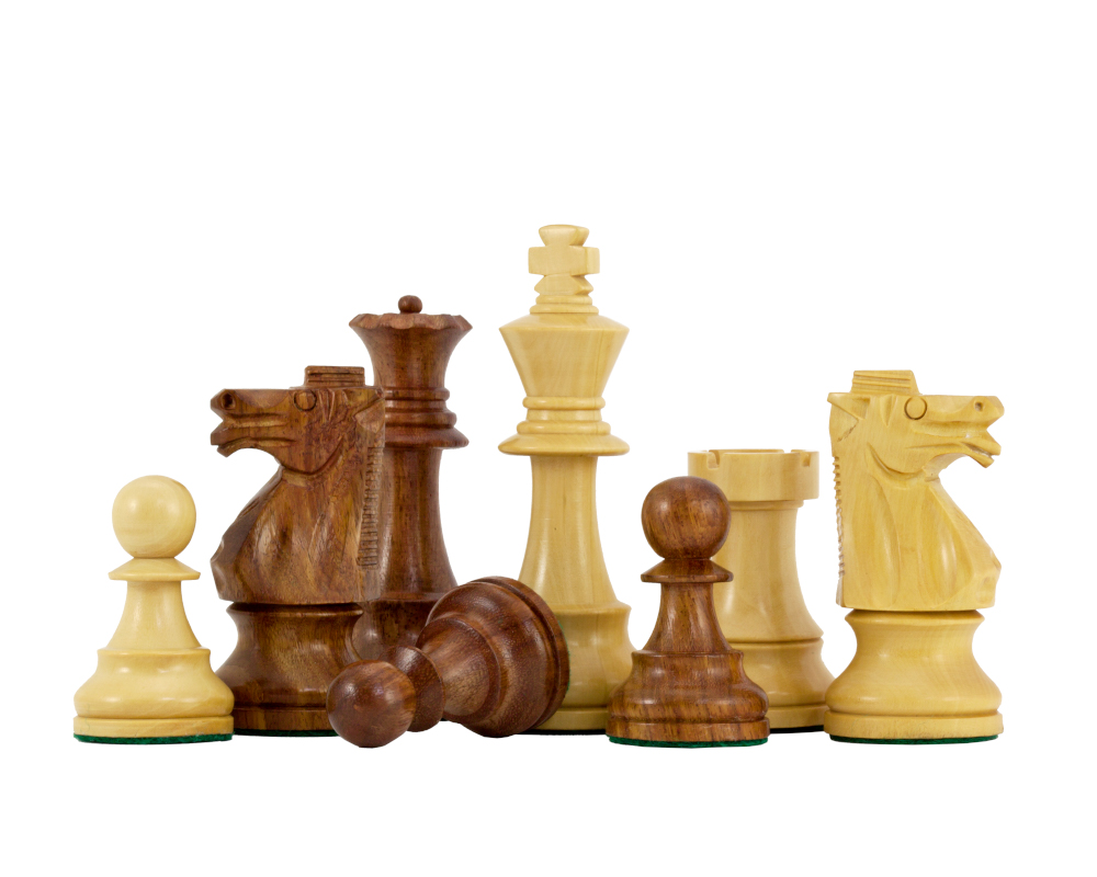 British Series Staunton Chessmen in Sheesham 3.75 Inches