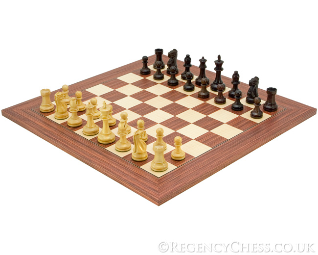 Supreme Red Rose Chess Set