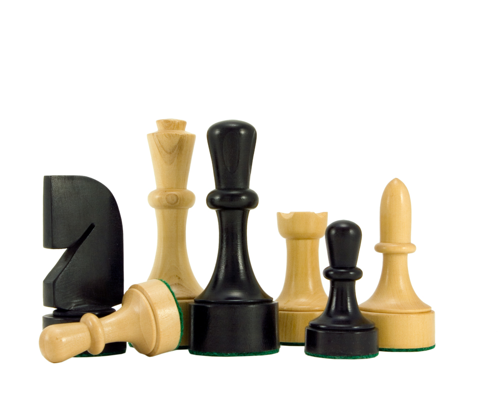 Contemporary Black Anegre Chess Set
