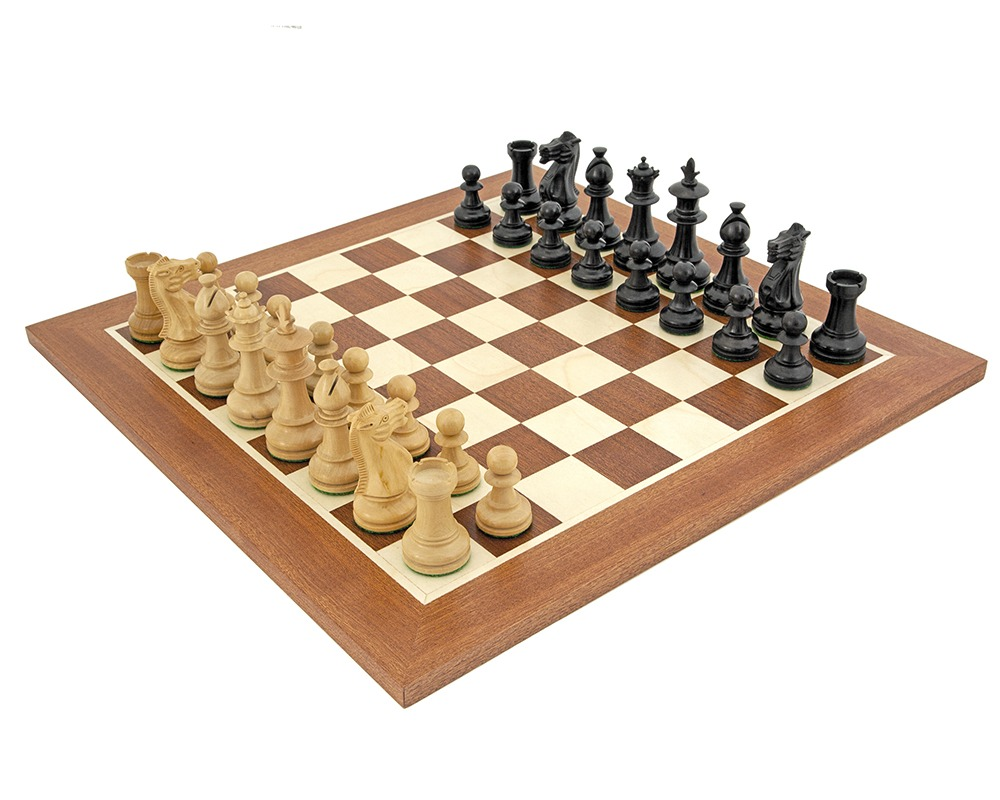 Royal Flower Mahogany Chess Set