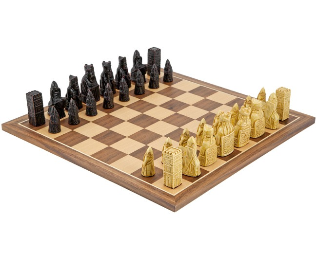 Isle of Lewis Compact Walnut Chess Set