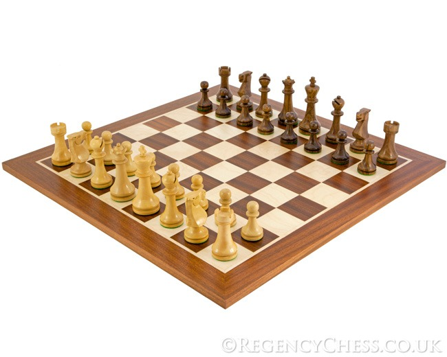 Pioneer Sheesham and Mahogany Staunton Chess Set