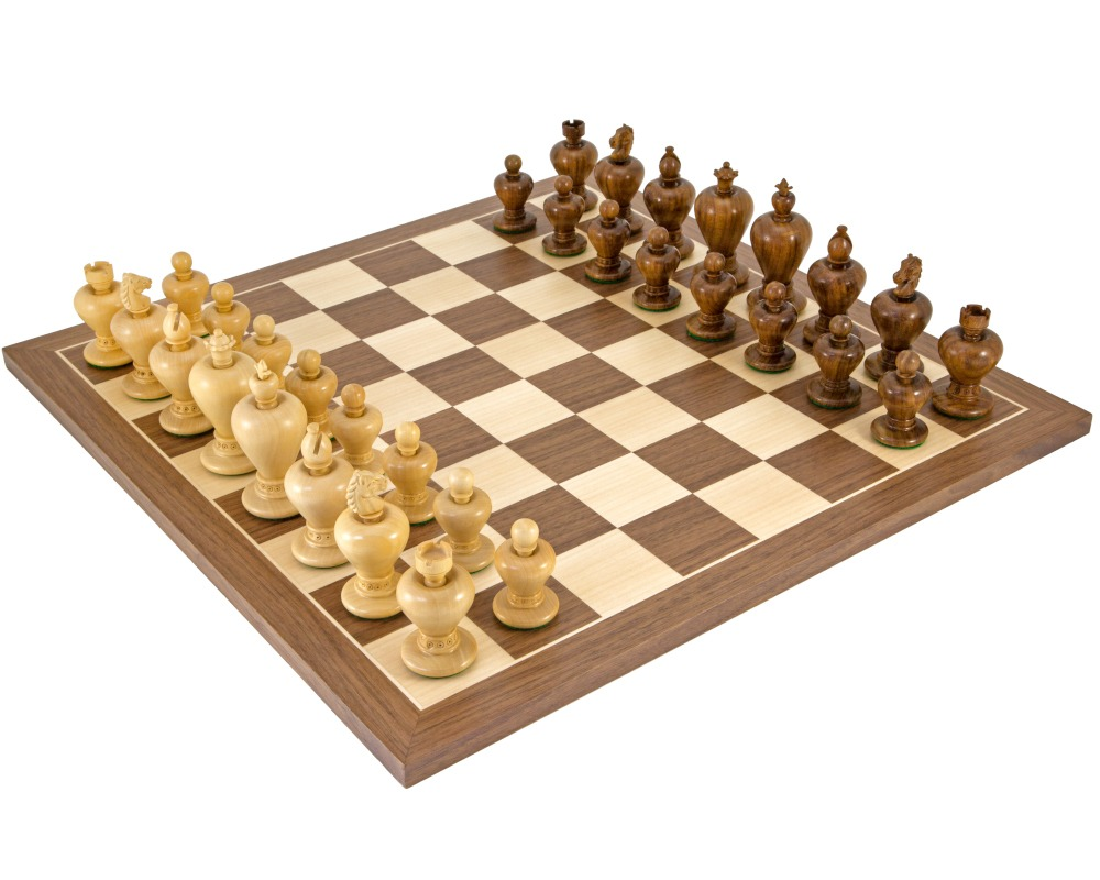 Apple Sheesham and Walnut Chess Set