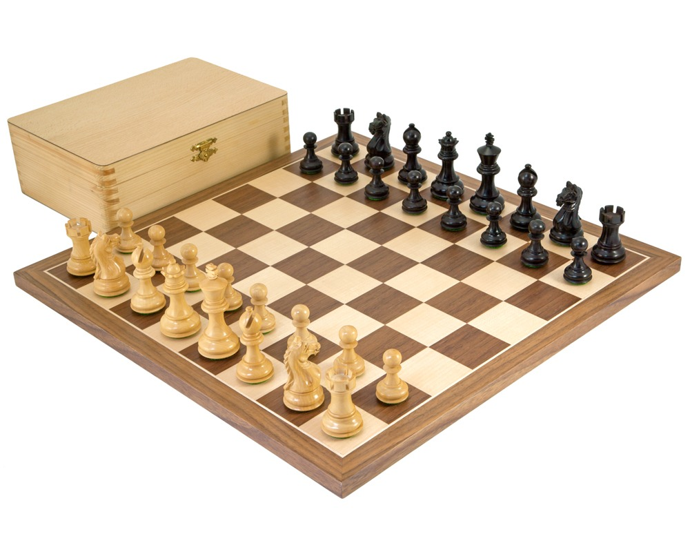 Fierce Knight Black Tournament Chess Set