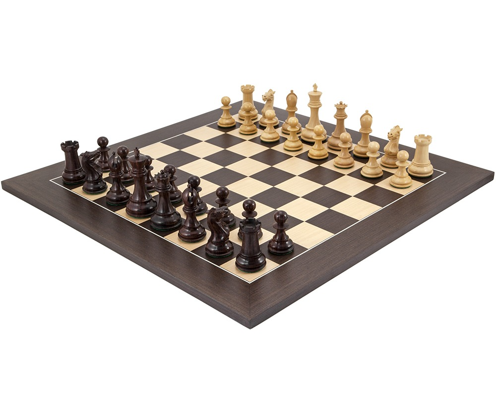 Sandringham Rosewood and Wenge Luxury Chess Set
