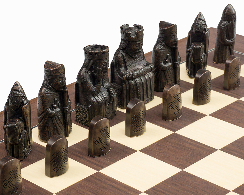 The Official Lewis Montgoy chess set mid sized