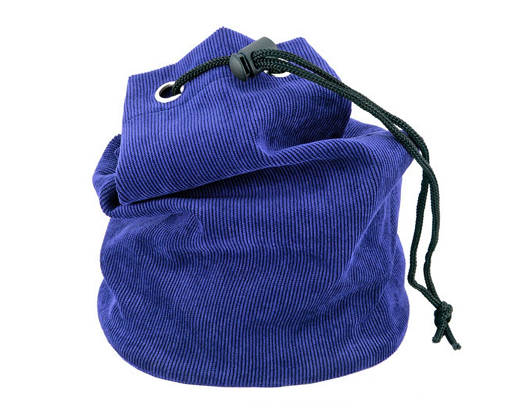Royal Blue Fabric Chess Piece Bag