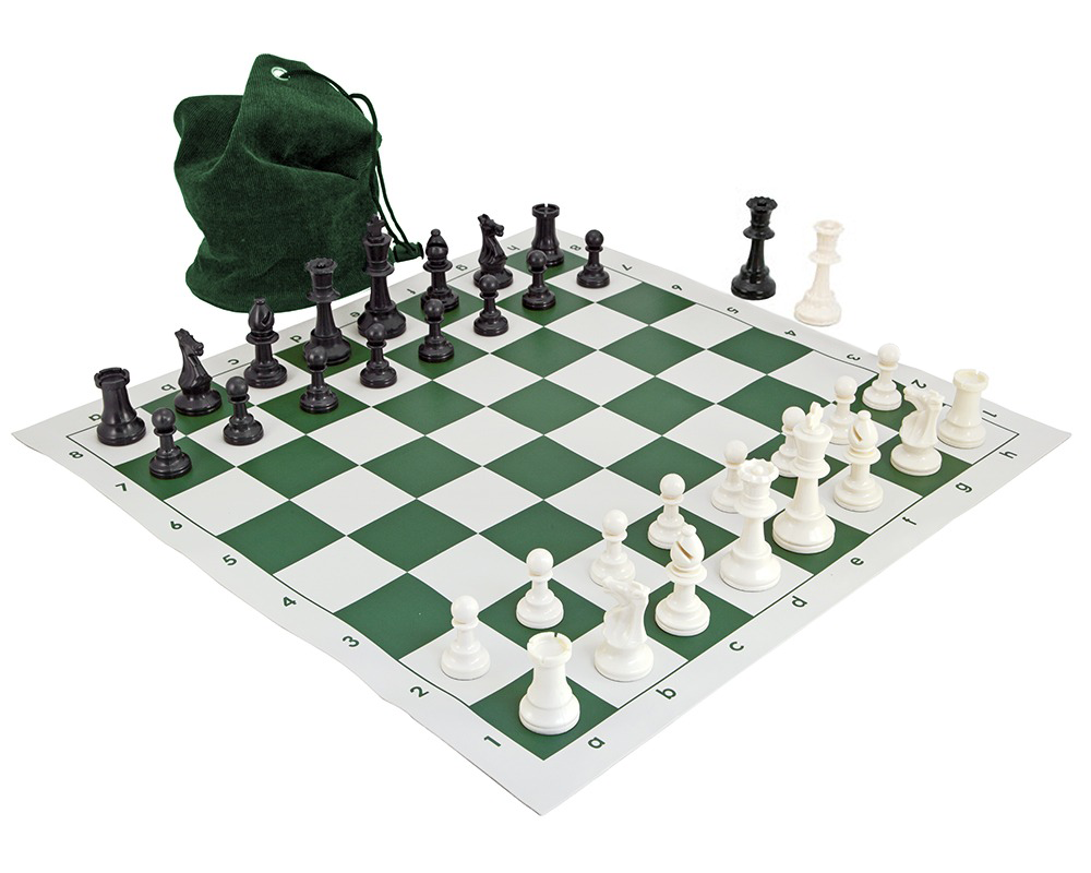 School Tournament Chess Set Green