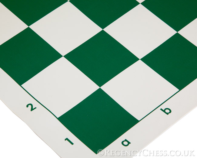 20 inch Roll Up Vinyl Chess Board Green x10