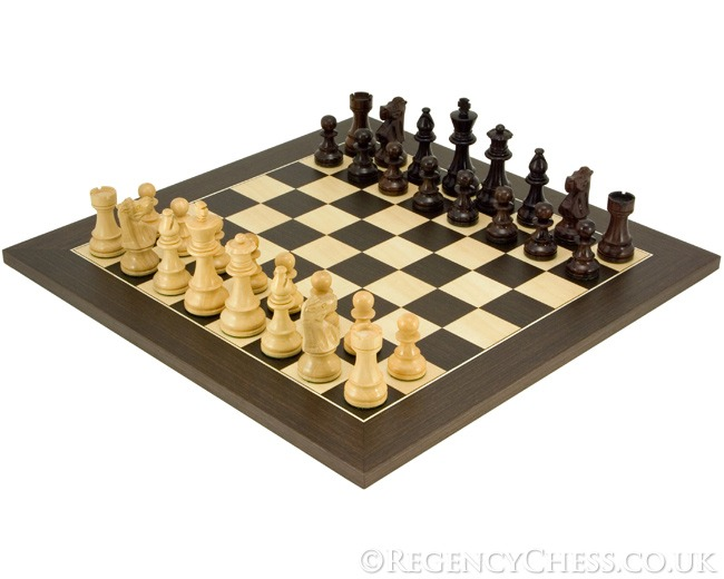 French Knight Rosewood Chess Set