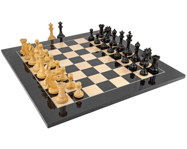 Walsingham Ebony and Anegre Grand Chess Set