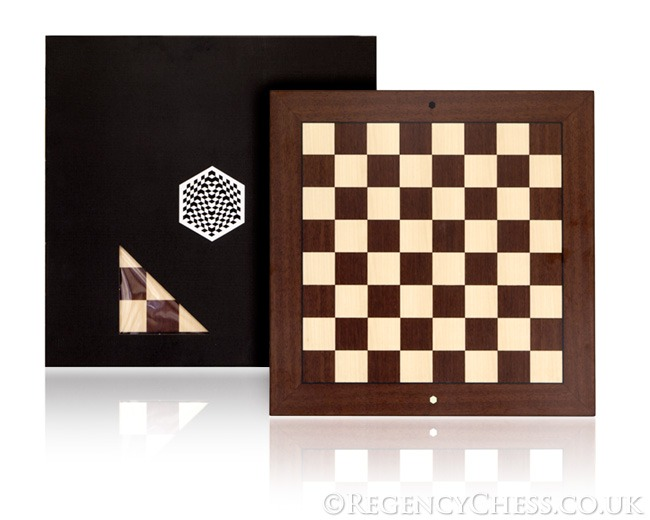 World Chess Rosewood and Maple Chess Board 19.7 Inches