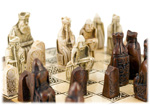 Isle of Lewis Chessmen with Chess Board