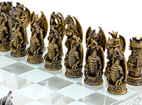 The Dragon Chess Set in Glass