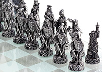 Grim Reaper Chess Set in Glass