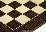 TIGER EBONY AND MAPLE DELUXE CHESS BOARD