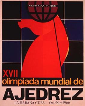 The 17th Chess Olympiad Poster