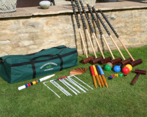 Croquet Set on the lawn