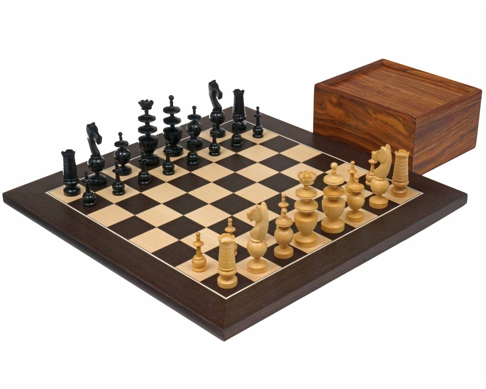 The French Regency Wenge Chess Set