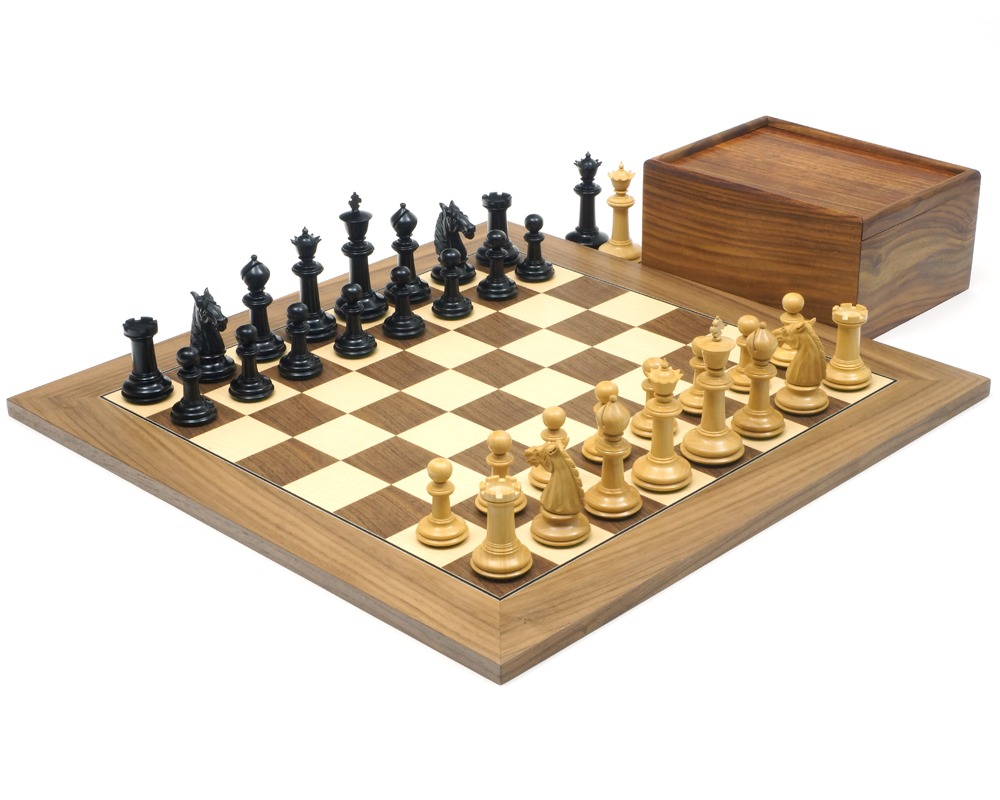 The Bath Ebony and Walnut Chess Set