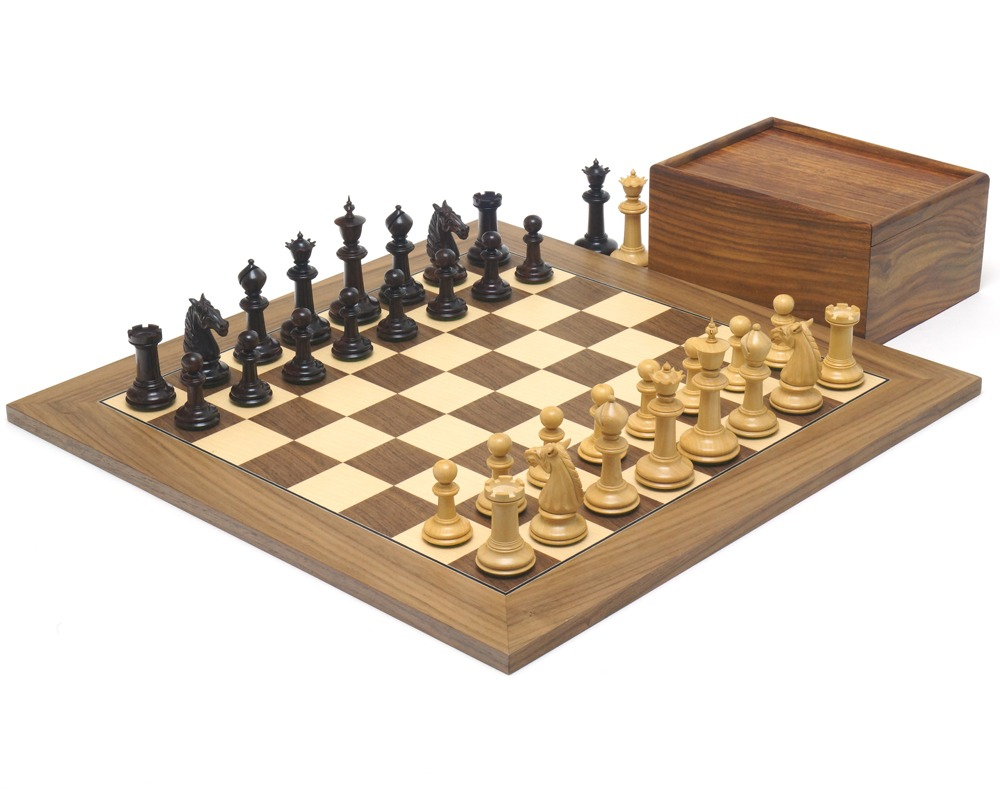 The Bath Rosewood and Walnut Chess Set