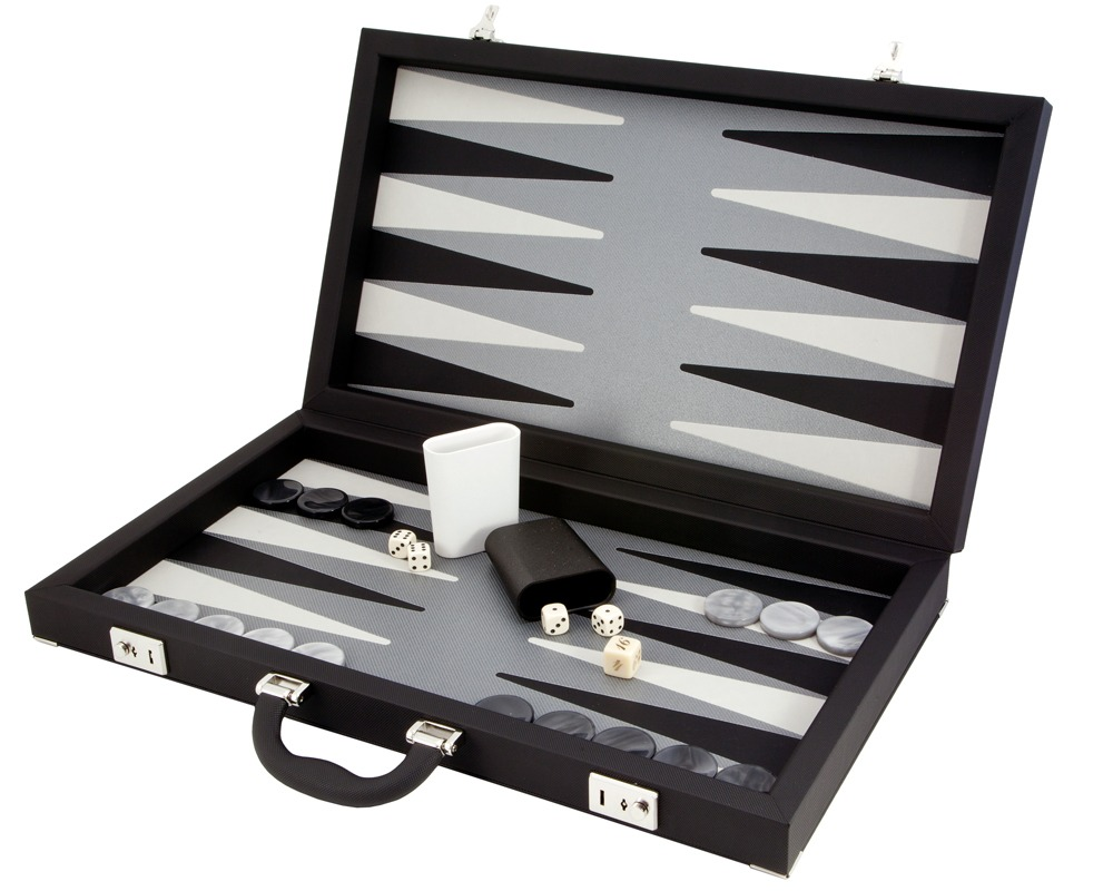 Dal Negro Topina & Composite Backgammon in Black