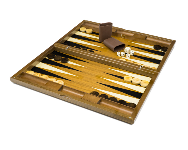 The Dal Negro York Deluxe Backgammon Set