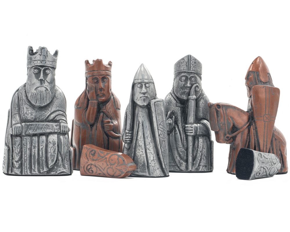 Berkeley Chess Isle of Lewis Metallic Chess Men