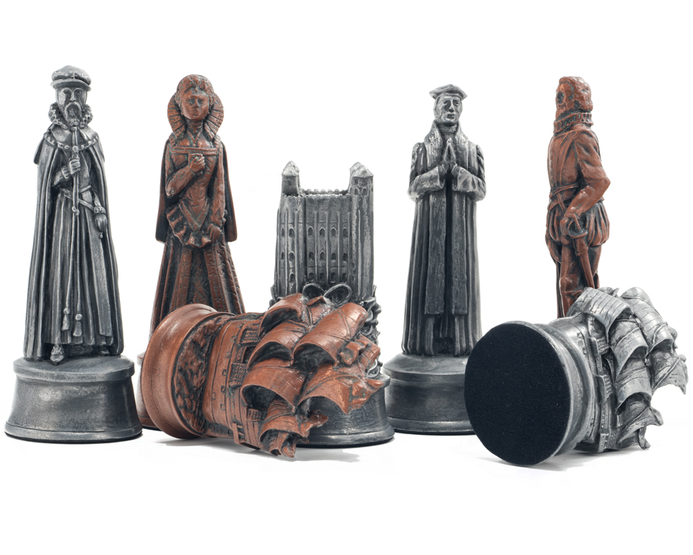 Berkeley Chess Elizabethan Metallic Chess Men