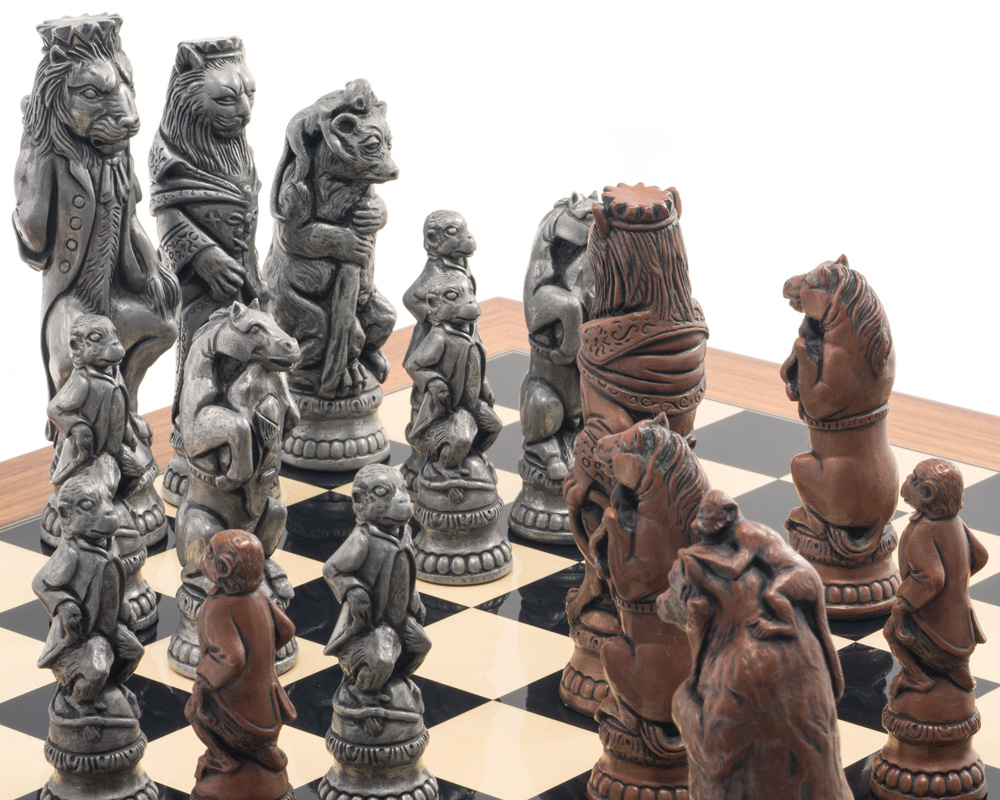 Berkeley Chess Reynard the Fox Metallic Chess Men