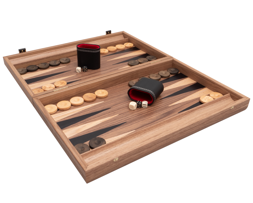 Tournament Walnut & Maple Backgammon Set Premium Edition