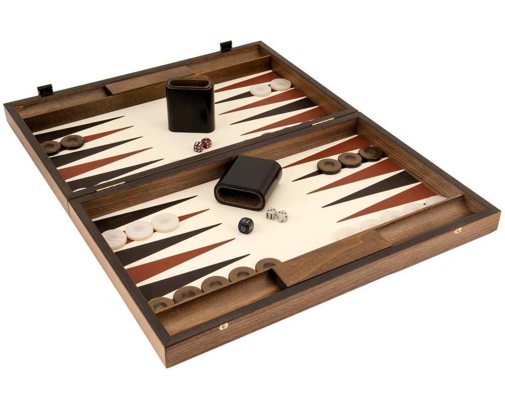 Manopoulos Luxury Ivory and Walnut Backgammon Set